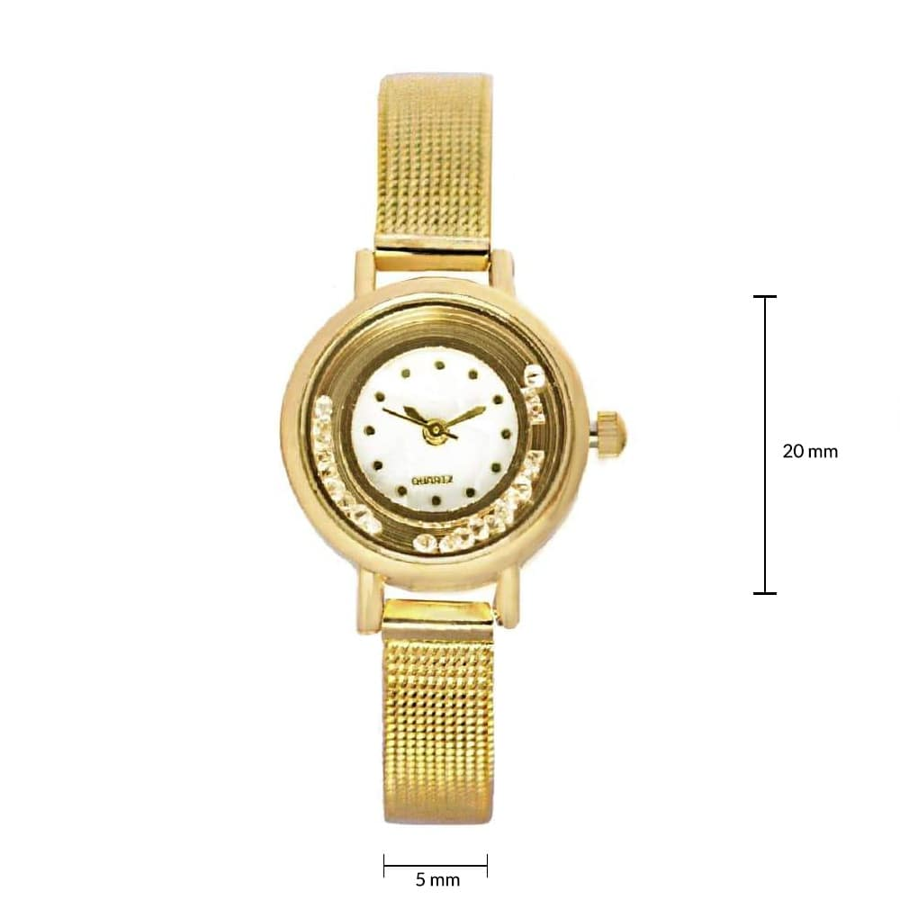 Amelia Gold Strap Watch