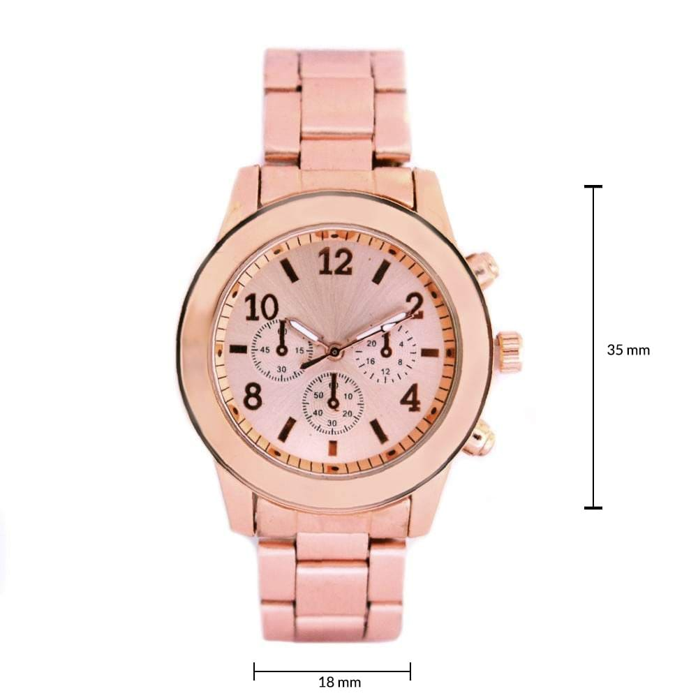 Chloe Rosegold Metallic Watch