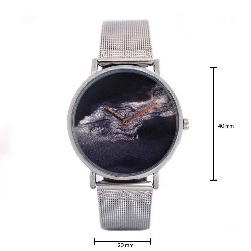 Serena Silver Black Graphic Watch