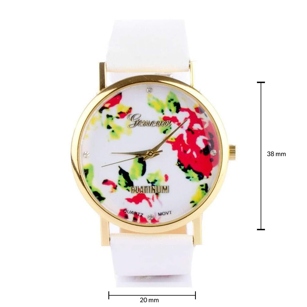 Floral White Watch
