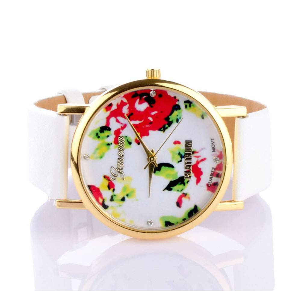 Floral White Watch - Joker & Witch - 3