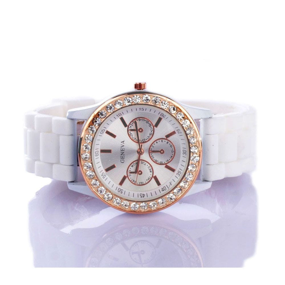 Diamante White Watch - Joker & Witch - 3