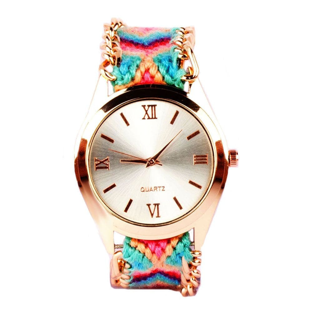 Multicolour Braided Bracelet Watch - Joker & Witch - 1