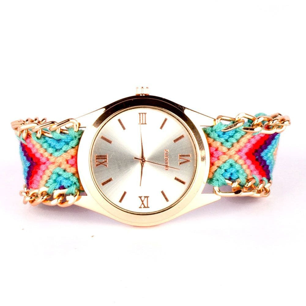 Multicolour Braided Bracelet Watch - Joker & Witch - 2