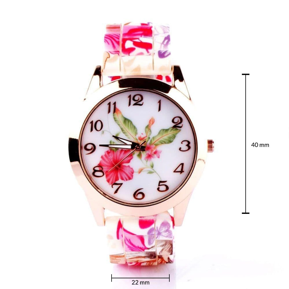 Floral Silicone Watch