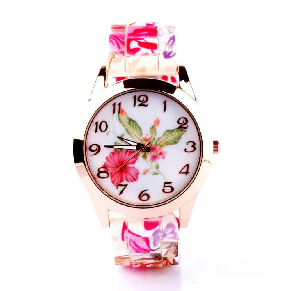 Floral Silicone Watch - Joker & Witch - 1