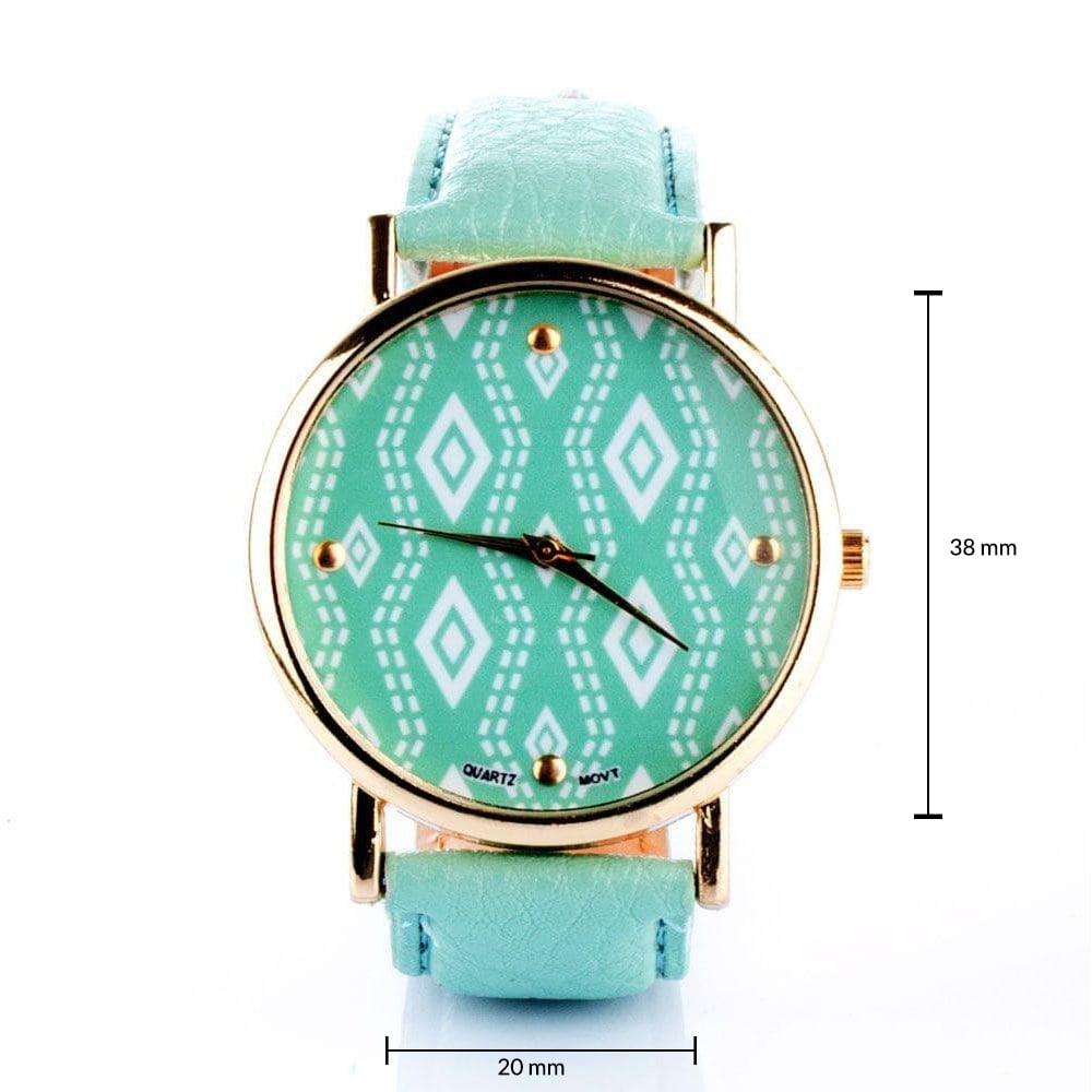 Printed Dial Mint Watch