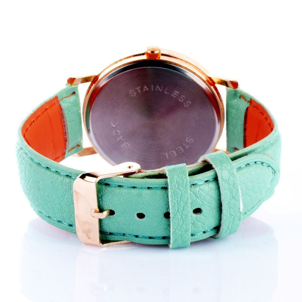 Women aqua blue Printed dial watch