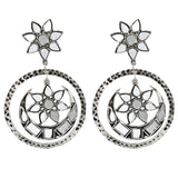 Samaya Silver Oxidized Mirror Earrings - Joker & Witch