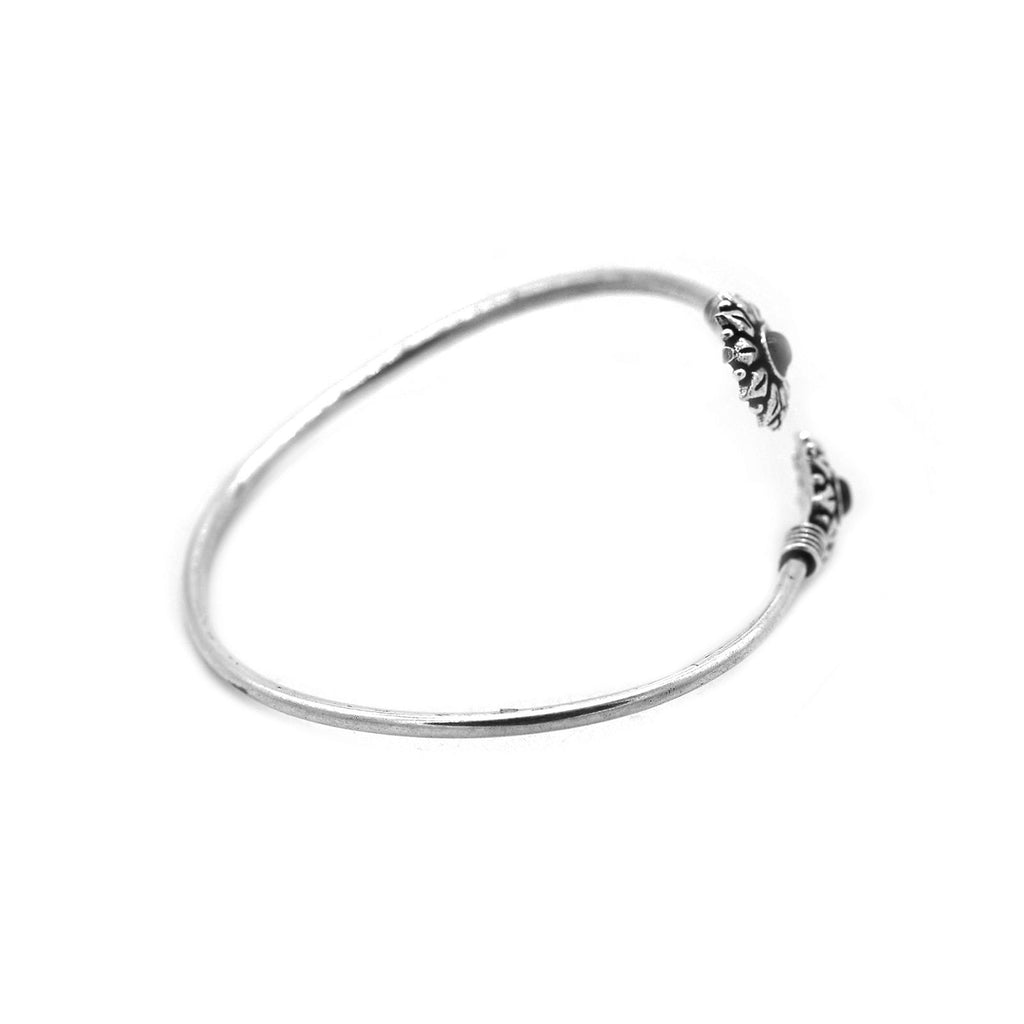 Aparna Black Circular Silver Oxidized Bracelet - Joker & Witch