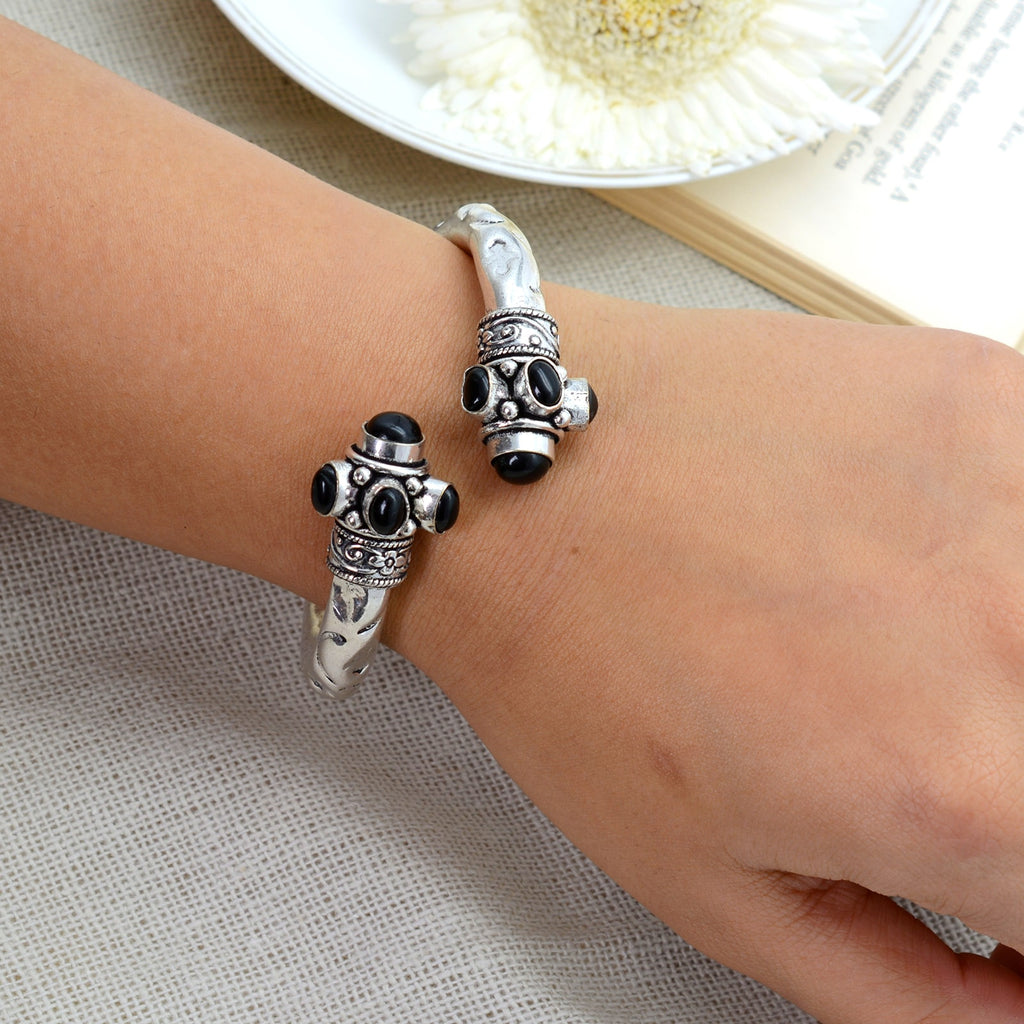 Trisha Black Bracelet Cuff - Joker & Witch