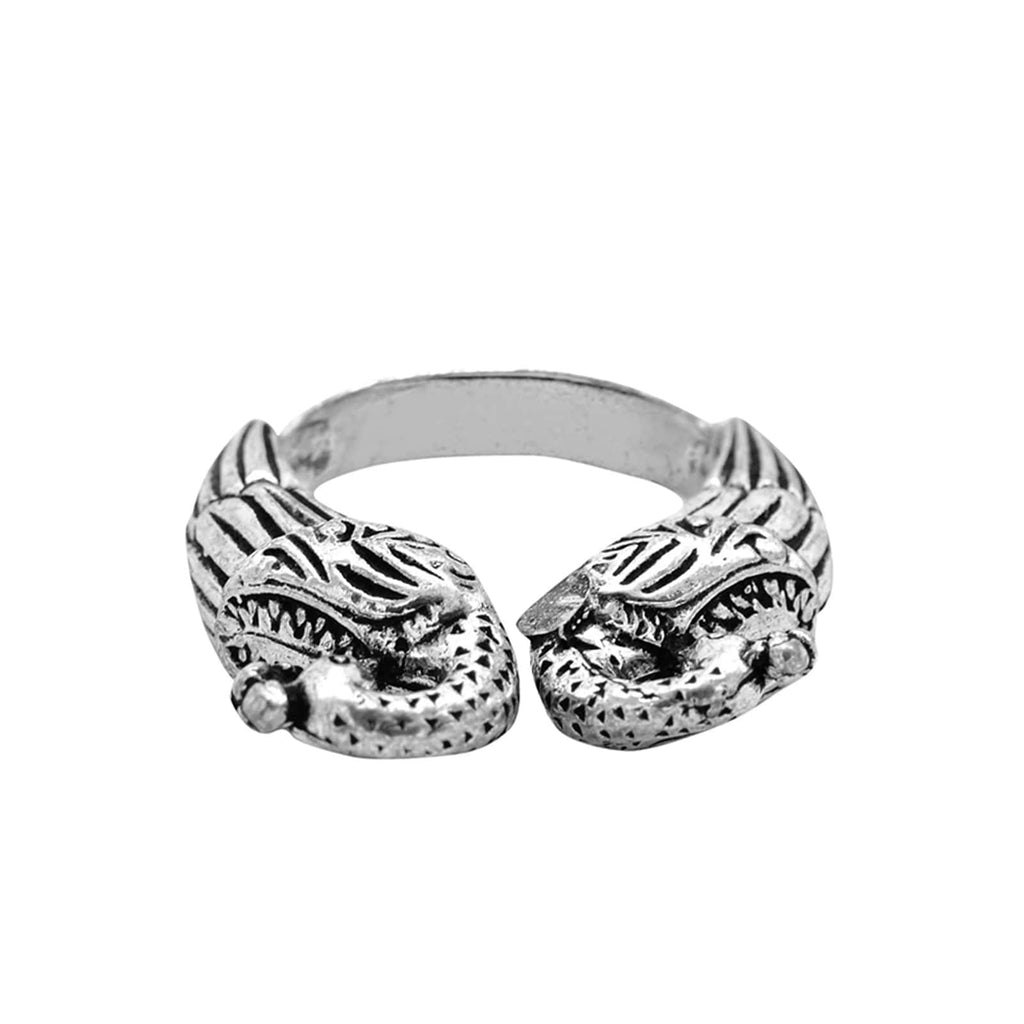 Viti Peacock Silver Oxidized Ring - Joker & Witch
