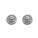 Mridhul Circular Silver Oxidized Studs Earrings