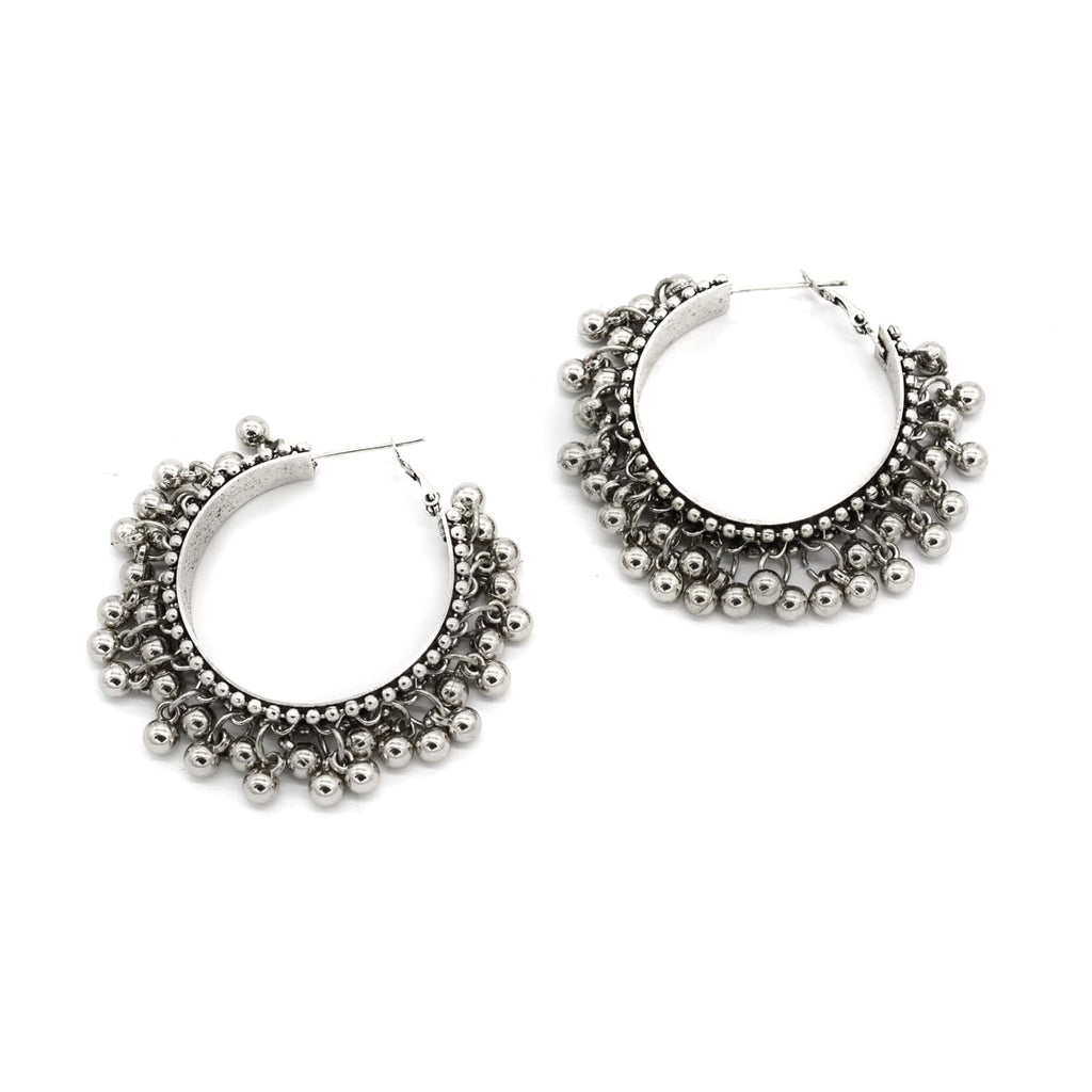 Gungroo Silve Hoops Earrings - Joker & Witch