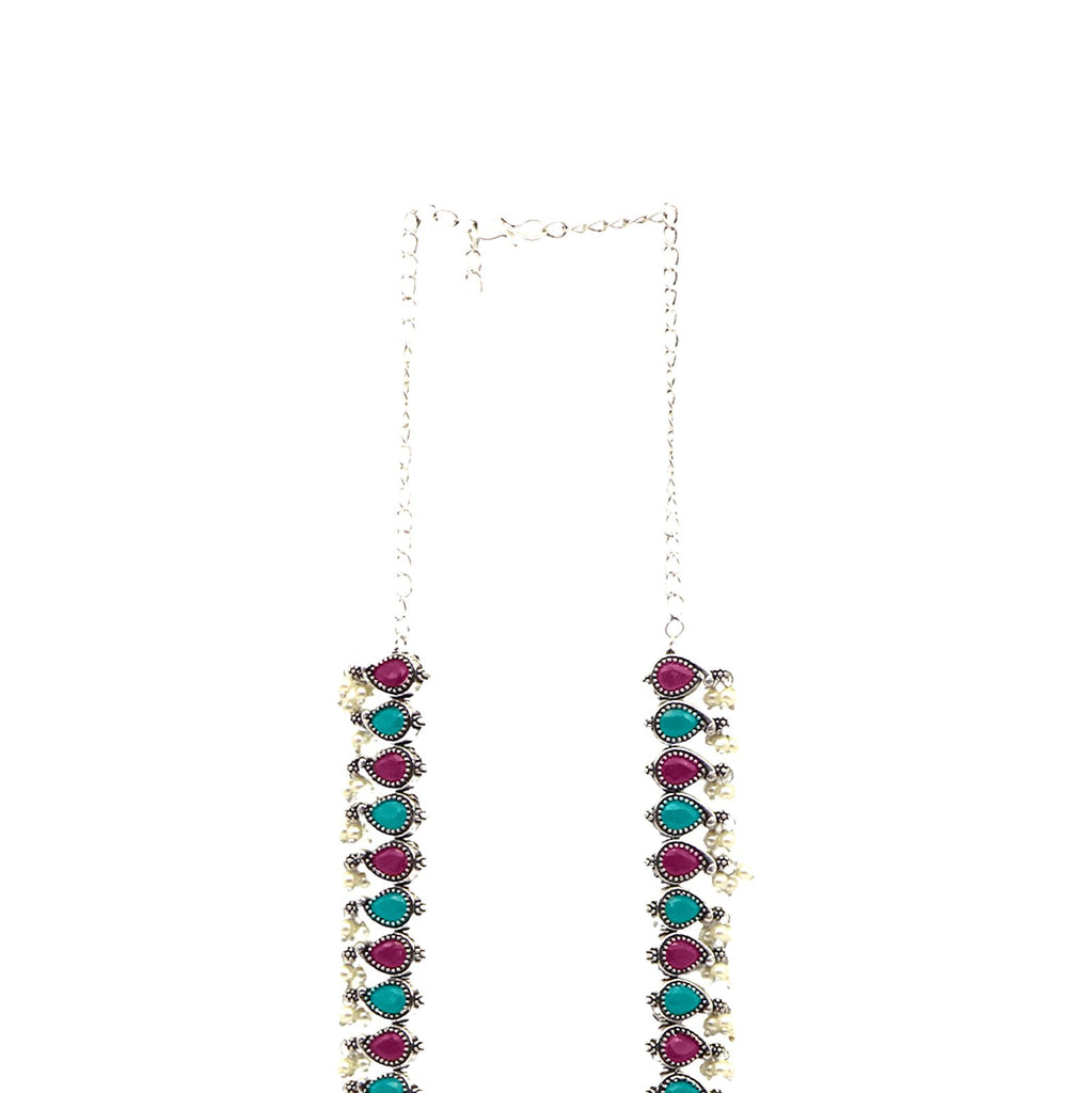 Teejh Aalia Multi colored Long Necklace Set