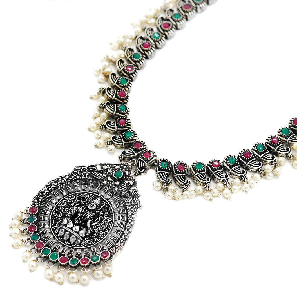 Teejh Ruhi Multicolored Silver Oxidized Jewelry Gift Set