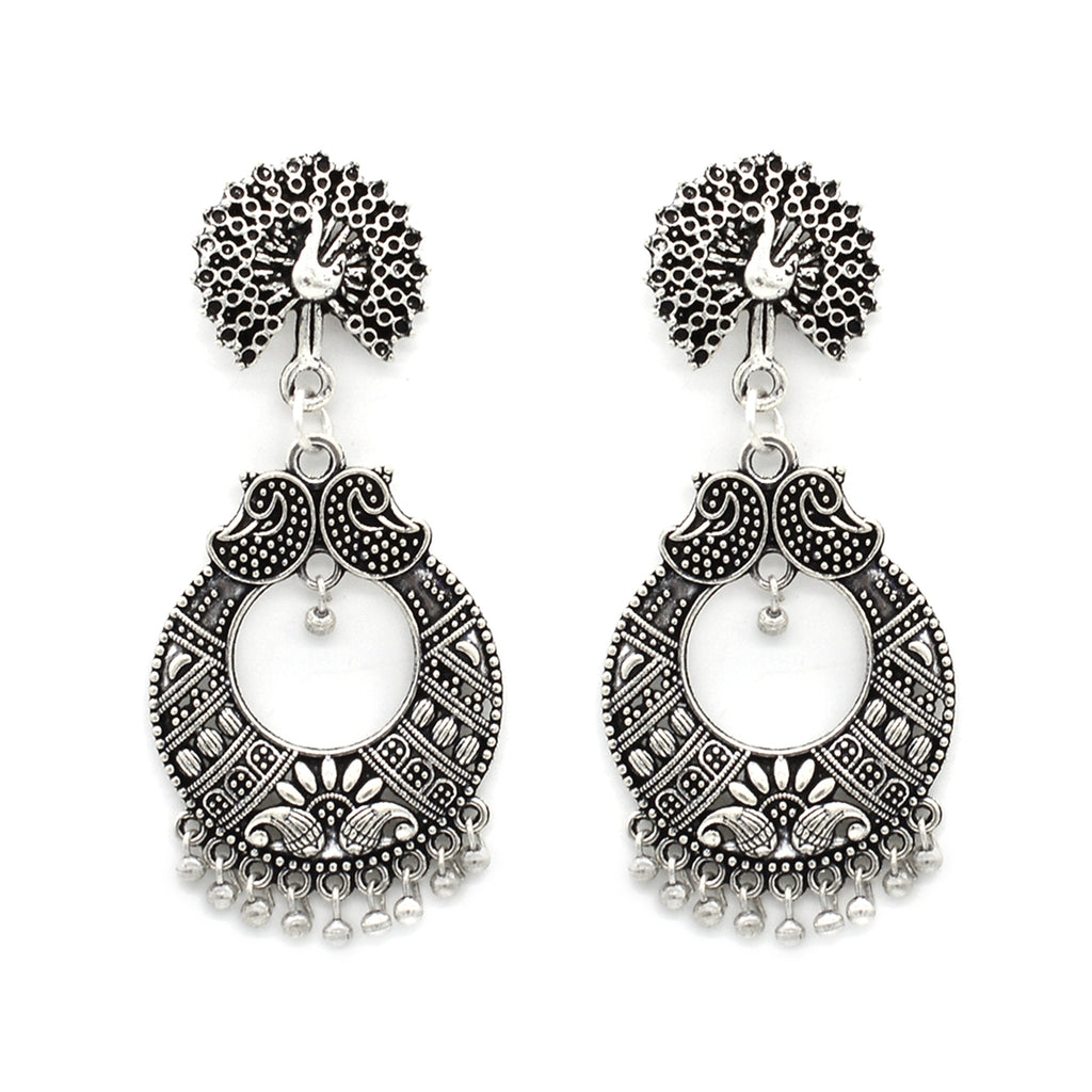 Mira Peacock Silver Oxidized Jewelry Gift Set - Joker & Witch