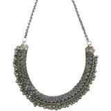 Teejh Niharika Metallic Silver Oxidized Jewelry Gift Set