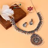 Naksh Multi Colored Silver Oxidized Jewelry Gift Set - Joker & Witch