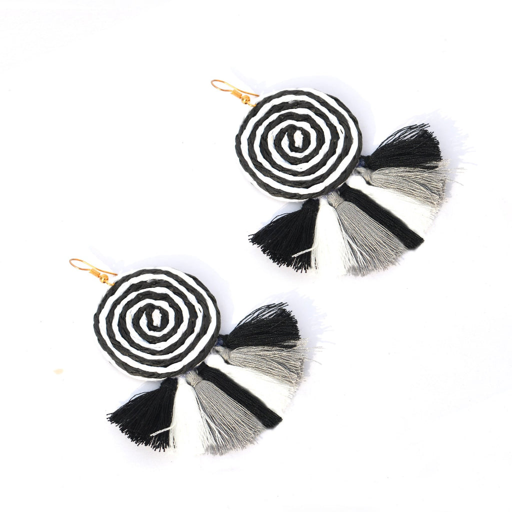 Summer Day Black & White Earrings - Joker & Witch