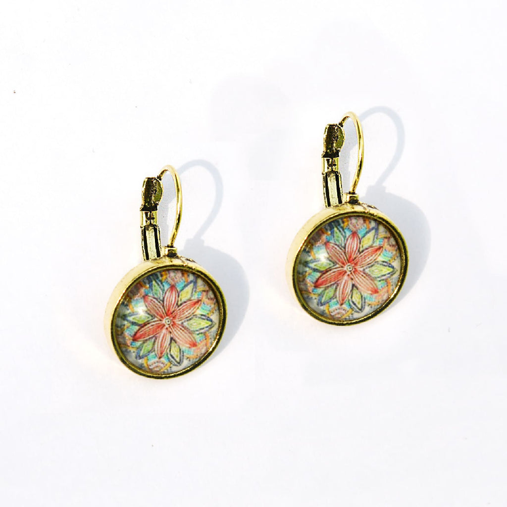 Abstract Floral Mini Earrings