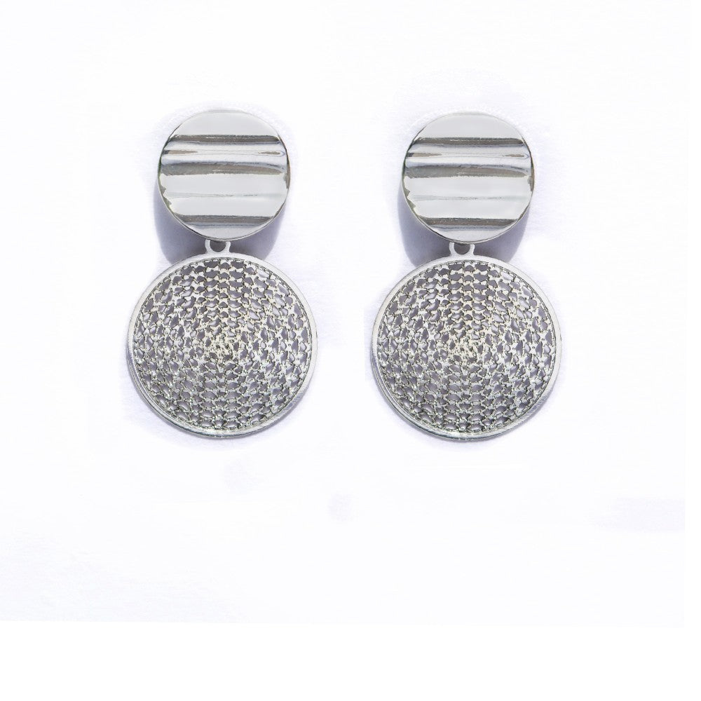 Silver Filigree Drop Earring