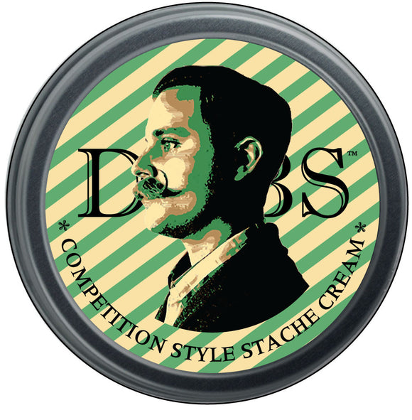 DUBS STACHE CREAM - FIRM HOLD - BAY RUM  WHOLESALE PKG OF 24 TINS
