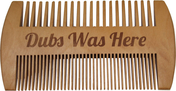 DUBS DOUBLE SIDED BEARD AND MOUSTCHE COMB