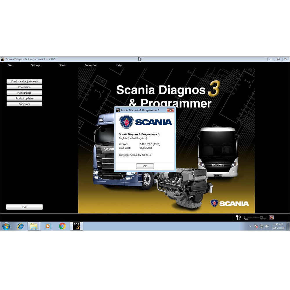 Scania VCI3 Diagnostic Interface Kit & SDP3 v 2.4 Diagnostic & Programmer Latest version 2019- Online Installation Service Included !