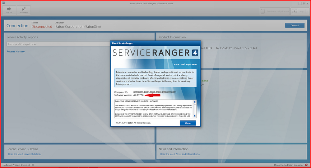 Eaton Service Ranger v4.2 2017 Diagnostics Software Include Full Activator & 2017 Data files-Online Installation Service