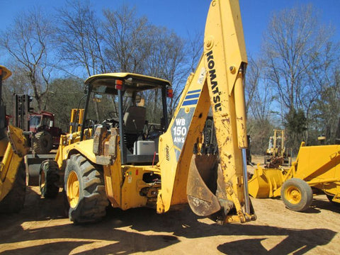 Komatsu WB150 AWS-2 Backhoe Loader Official OEM Worksop Service Repair Manual