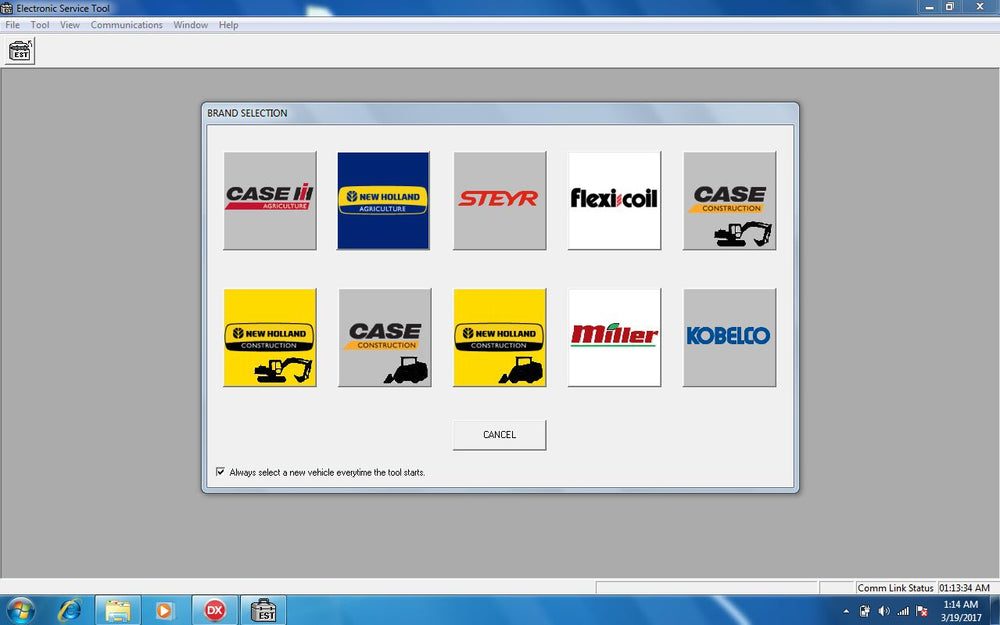New Holland Case Electronic Service Tools CNH EST 9.3 UPDATE 9 Diagnostics Software - Engineering Level Latest 11\2020