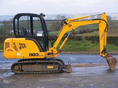 JCB 802.7 803 804 Super & Plus Mini Crawler Excavator Workshop Service Manual