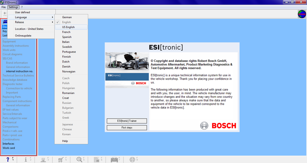 Bosch ESI Tronic 01/2016 Cars EPC Include Archive Data And Activator