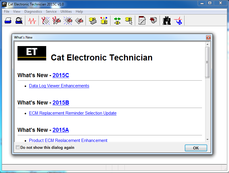 Electronic Technician ET2015C diagnostics Software For All Caterpilllar Equipment - Online Installation Service !