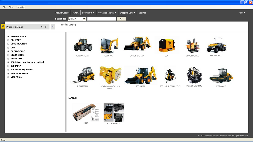 EPC - Jcb ALL Models Parts Manuals Software 2015 - Jcb Service Parts Pro 2015 1.18v DVD - 2 licence Inclure !!