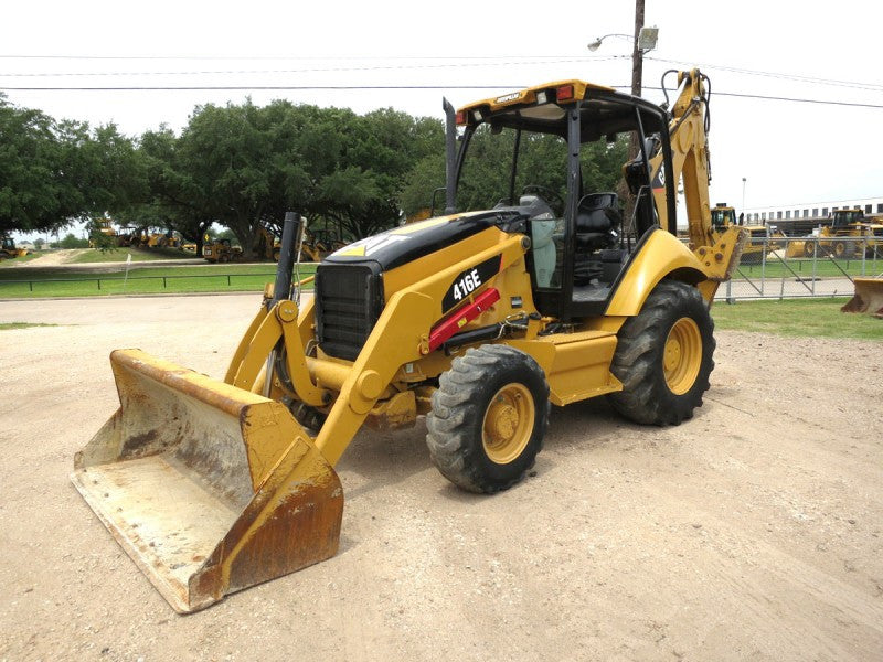 Caterpillar 416E Backhoe Loader (Single Tilt, Center Pivot) Parts Manual \ Parts Catalog