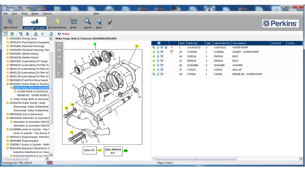 Perkins SPI2 V2015A Full Parts Catalog (EPC) & Service Information Software - Latest Version !