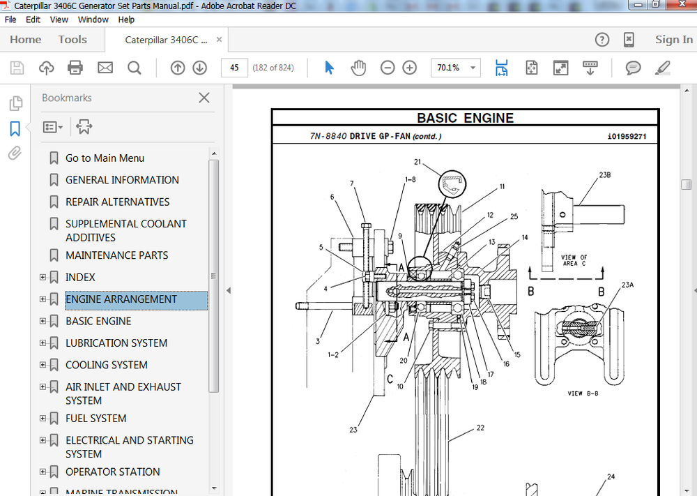 Cat 3406 Engine Parts Diagram - Diagram Schematics Wiring Diagram For Caterpillar Generator on