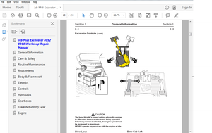 Jcb Midi Excavator 8052 8060 & Engine Service Repair Manuals