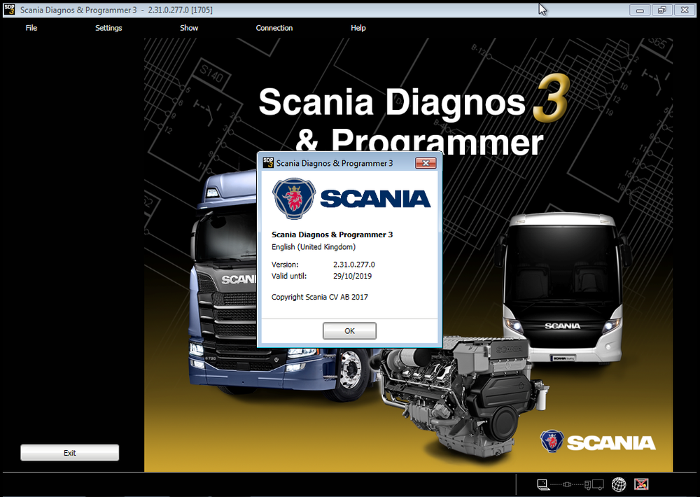 Scania SDP3 v 2.31 Diagnostic & Programmer Latest version 2017 - FULL Version ! Online Installation Service Included !