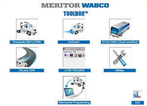 Meritor WABCO TOOLBOX 12.3.1 - ABS And Hydraulic Power Brake (HPB) Diagnostics Software