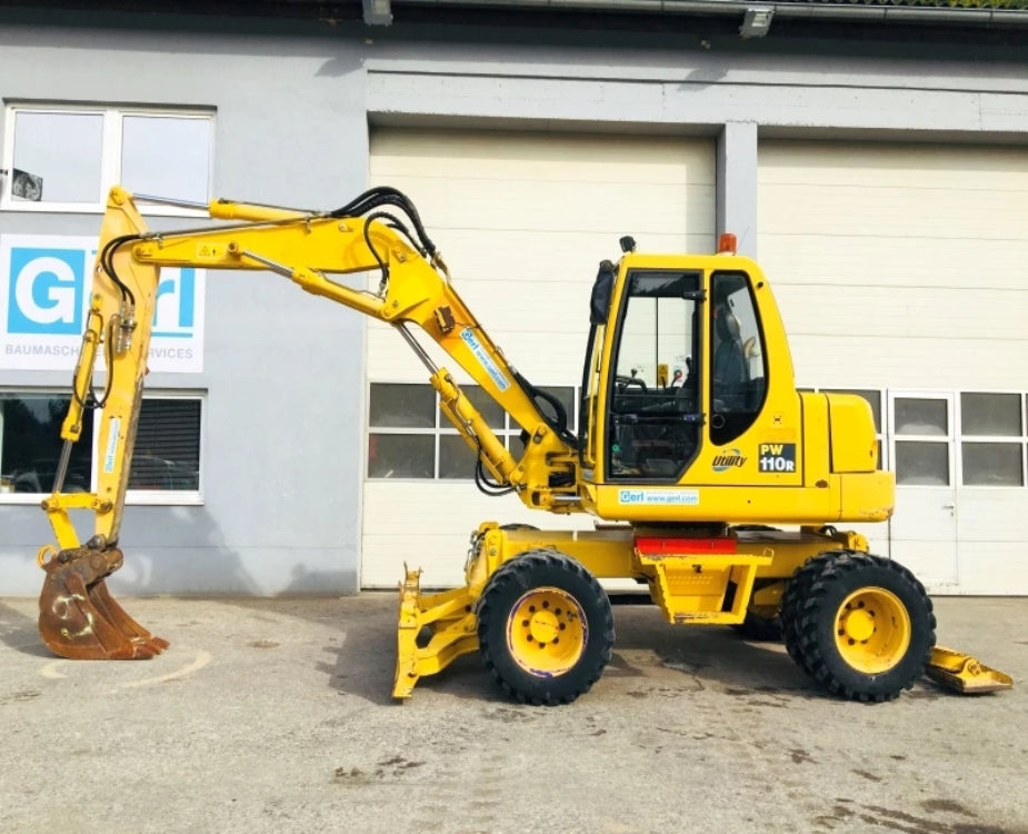 Komatsu PW110R-1 Wheeled Excavator Official Workshop Service Repair Manuel