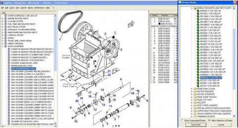 Komatsu Construction (EPC) Parts Manual Software All Models & Serials Up To 2016