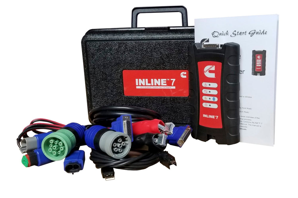 ORIGINAL Cummins INLINE 7 Data Link Adapter Diagnostic Kit - Full Kit With Insite 8.5 Diagnostic Program- Latest 2020 !