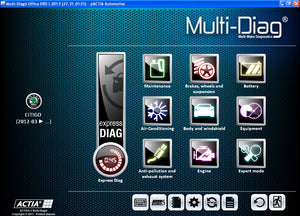 ACTIA Multi-Diag I-2016 SP4 Multilanguage - All Cars Diagnostics Software