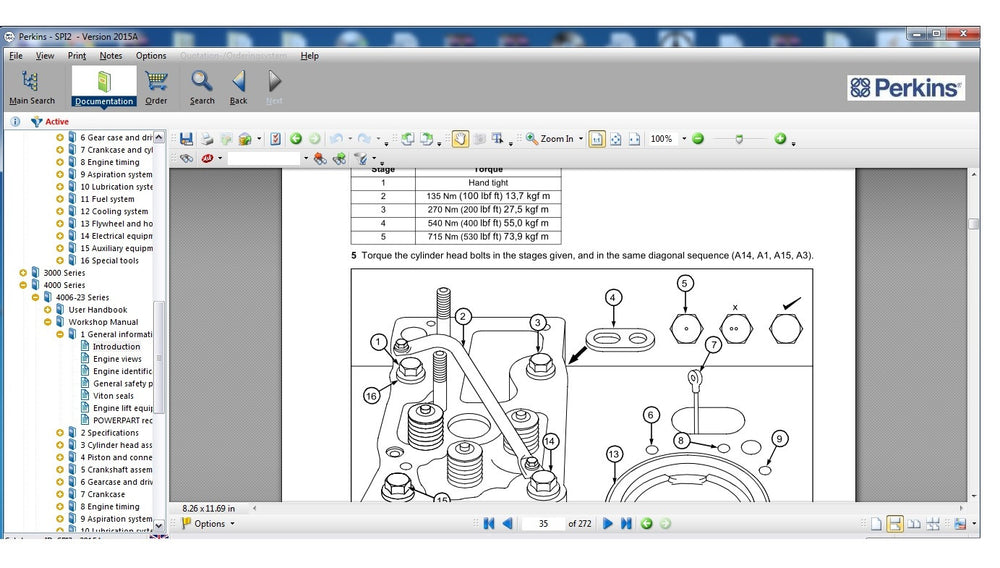 SPI2 V2018A Full Parts Catalog (EPC) & Service Information Software For Perkinss - Latest Version 2018 !