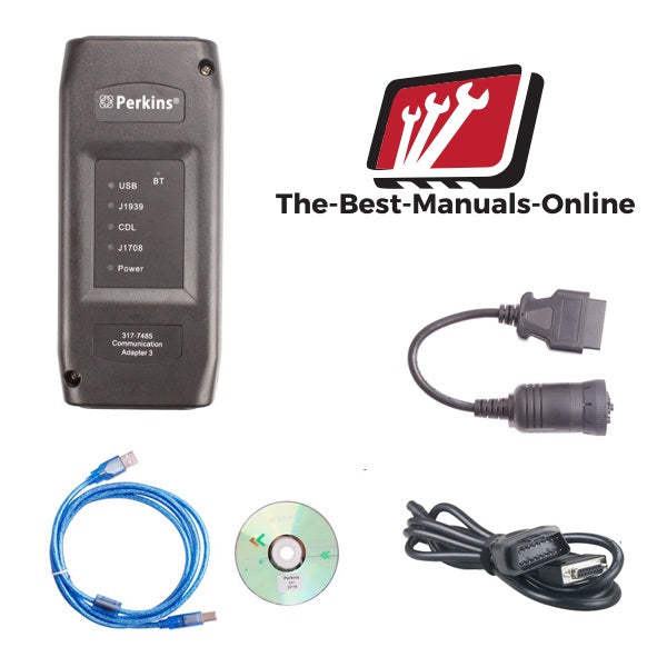 Perkins Com 3 Adapter EST Interface  -All Engine Diagnostic Tool Kit -EST2015A Online Installation Included !