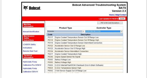 Bobcat Advanced Troubleshooting System (BATS) v2.3 (2017)- Online Installation Service Included !