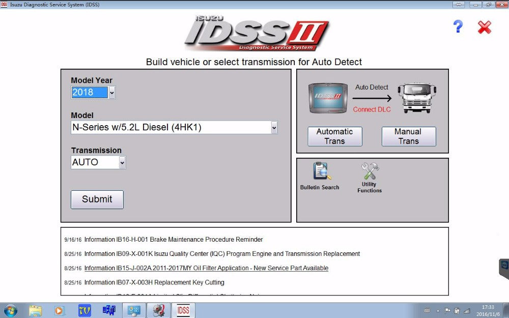 Isuzu IDSS II Diagnostic Service System - Full diagnostics Software Latest 2018 - Online Installation Service !
